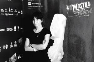 Luísa Sequeira na Mostra de Cinema de São Paulo na apresentação do filme Quem é Bárbara Virgínia